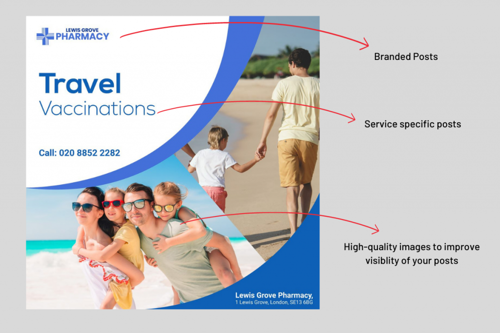 Social Media Marketing for travel clinic